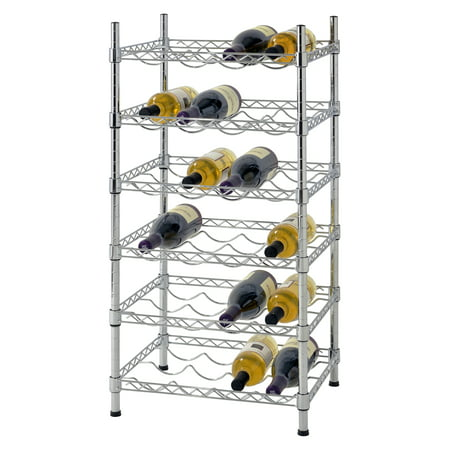 Muscle Rack 24 Bottle Chrome Wire Wine