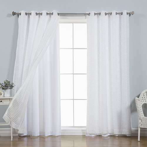 White Lace 52 x 96 In. Window Treatments, Set of Four by