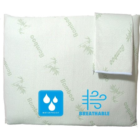 Niagara Sleep Solution Waterproof Anti Allergy Bamboo Cooling Pillow Protectors Standard 20x26 Inches 2 Pack/Pair Zippered Case, ????Guaranteed Noiseless???? Pad, Ultra Soft Absorbent Bamboo