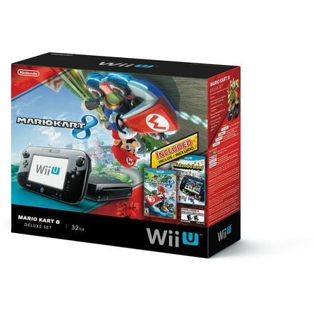 Nintendo wii u mario kart 8 nintendo land deluxe 32 gb - Wii console mario kart bundle ...