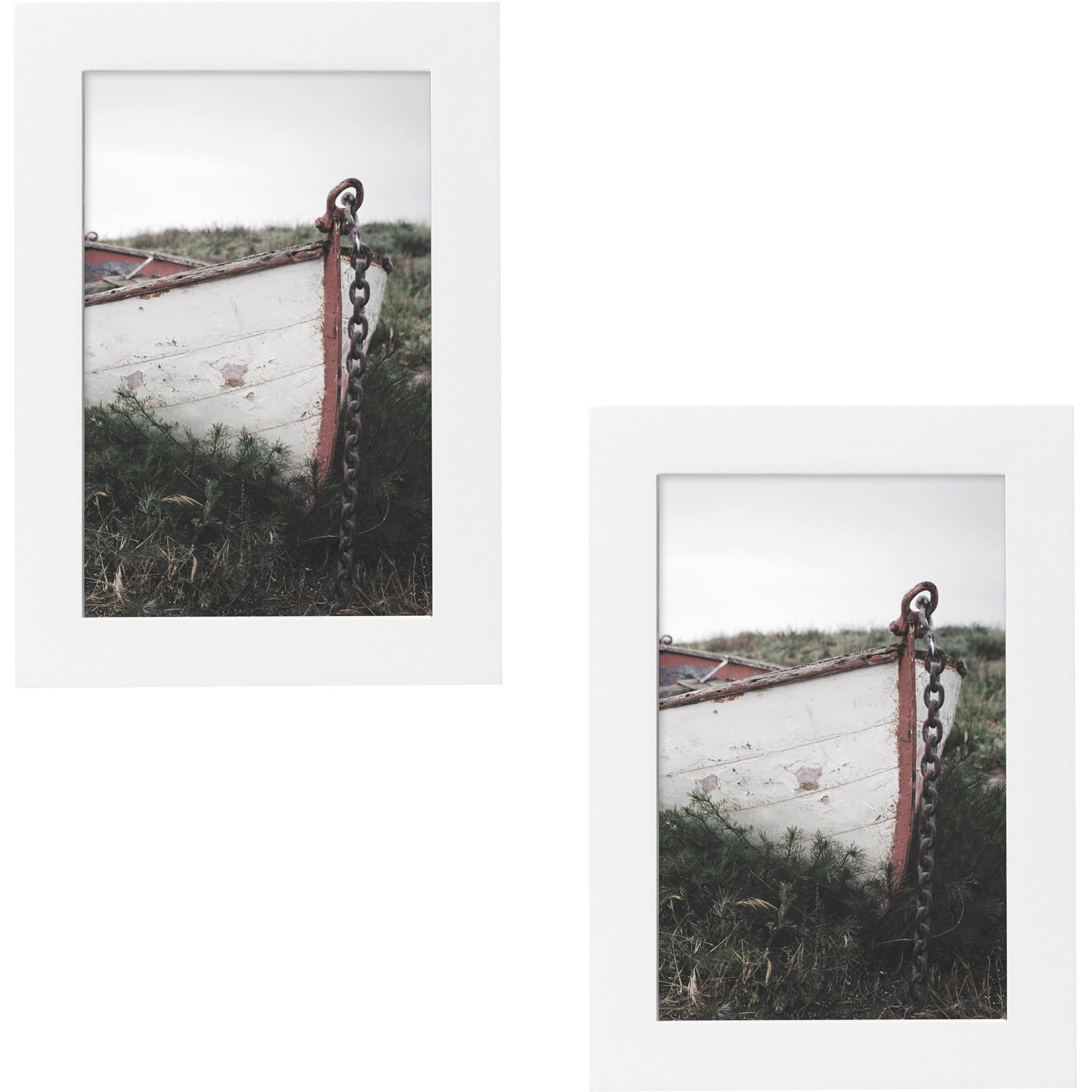 "Better Homes and Gardens Gallery 4"" x 6"" (10.16 cm x 15.24 cm) Picture Frame, White, Set of 2"