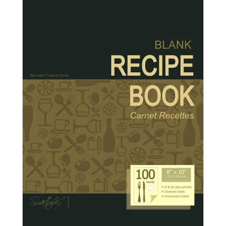 Blank Recipe Book: Recipe Journal ( Gifts for Foodies   Cooks   Chefs   Cooking ) [ Softback * Large Notebook... by