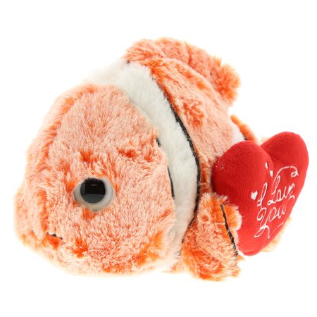 Super Soft Plush Dollibu Clown Fish I Love You Valentines