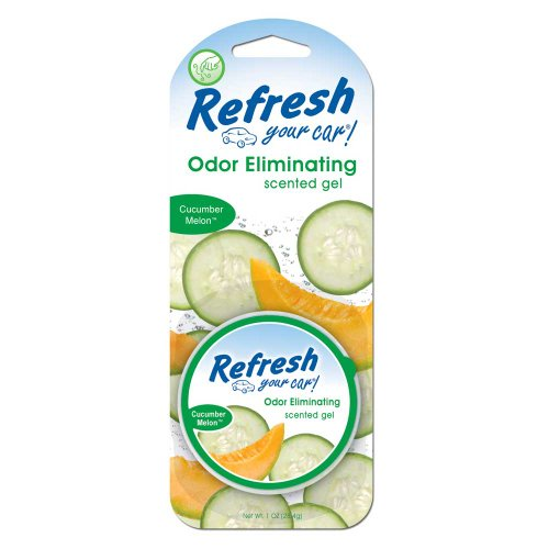 Refresh Your Car 1 oz Scented Gel -Cucumber Melon Multi-Colored