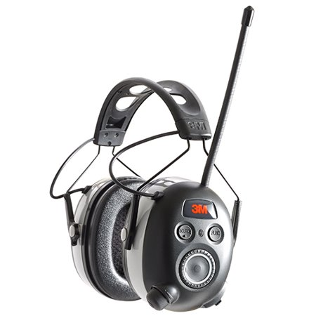 3M WorkTunes Wireless Hearing Protector with Bluetooth Technology and AM/FM Digital
