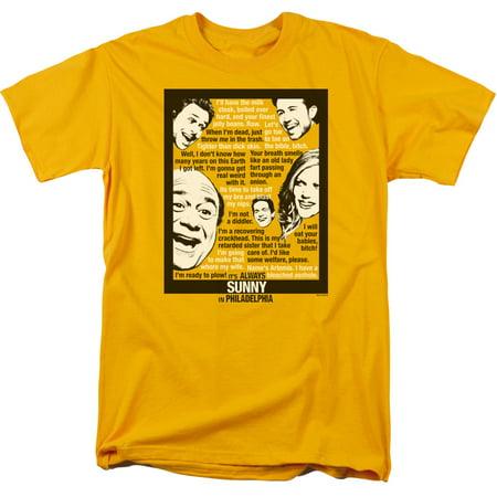 Its Always Sunny In Philadelphia Sunny Quotes Mens Short Sleeve Shirt