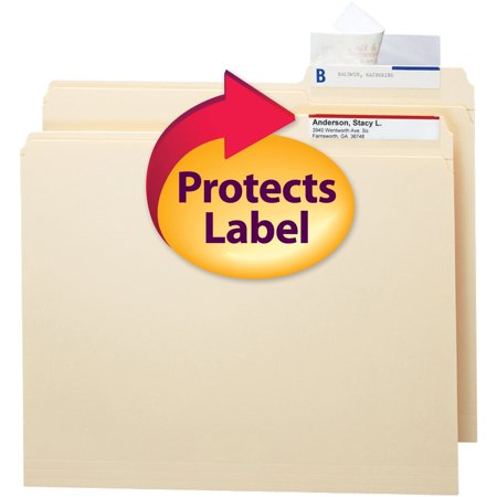 Smead Seal and View ® Clear Label Protector, Size 3-1/2x1-11/16-Inches before folding, 100 per Pack (67600)