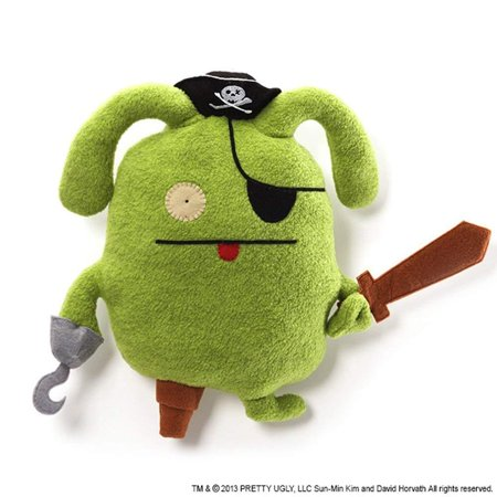 Uglydoll Classic Pirate Ox Stuffed Animal, Uglydoll Ox dressed in full pirate costume including: skull and crossbones hat, peg leg, eye patch, hook, and plush.., By GUND (Uglydoll Ox)