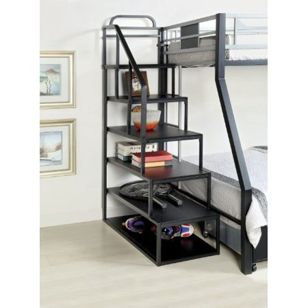 Furniture Of America Metal Bunk Bed Side Ladder Bookshelf