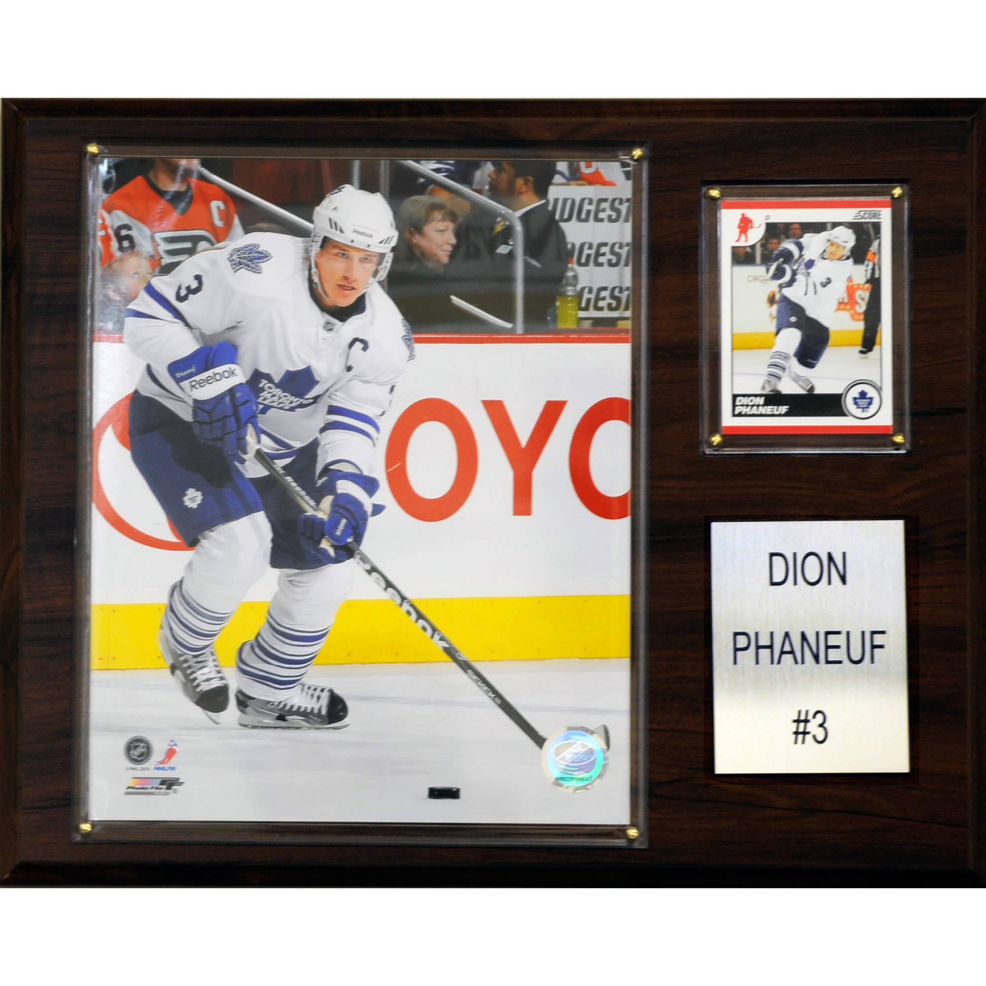 C&I Collectables NHL 12x15 Dion Phaneuf Toronto Maple Leafs Player Plaque