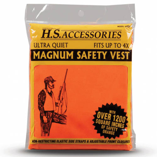 Magnum Safety Vest, Hunters Specialties, Blaze Orange, Fits up to Size 4X by HUNTERS SPECIALTIES INC