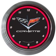 Neonetics Cars and Motorcycles 15'' Corvette C6 Wall Clock