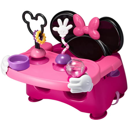 Disney Minnie Mouse Booster Seat, Helping Hands Feeding and Activity Baby Seat and Toddler
