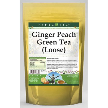 Ginger Peach Green Tea (Loose) (8 oz, ZIN: 530281) Ginger Peach Green Tea