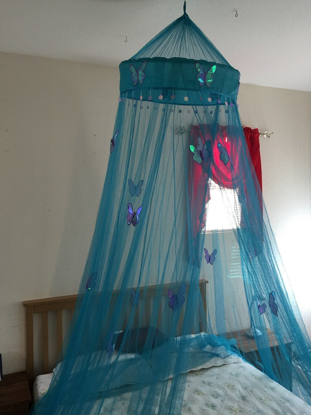 Full Octorose /® Round Hoop Bed Canopy Netting Mosquito Net Fit Crib Queen Twin King Purple