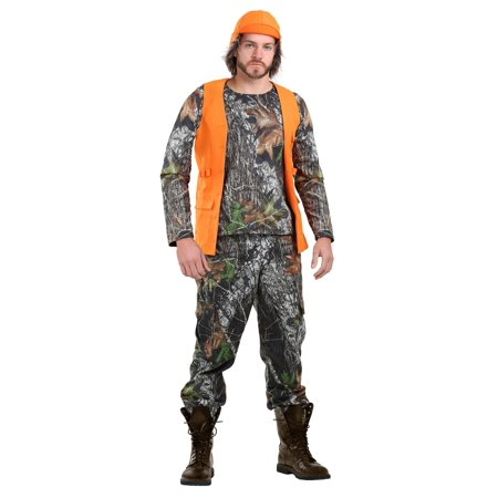 Camo Hunter Costume for Plus Size Men - Mens Hunter Costume