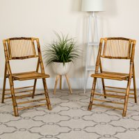 Flash Furniture 4pk American Champion Bamboo Folding Chair