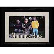 Mommy's Boys Landscape Picture Frame ~ Holds A 4X6 Or Cropped 5X7 Photo ~ Wonderful Gift For Mom From Her Little Boys!