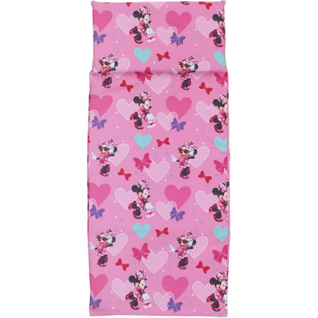 Disney Female Pink Cartoon Minnie Mouse Polyester Nap Mats Cover, Patterned (Mats Not Included)