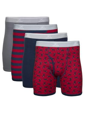 George Men's Regular Leg Boxer Briefs, 4-Pack