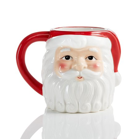 Martha Stewart Collection Ceramic Santa Mug Martha Stewart Glass Mug
