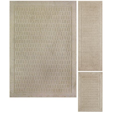 Mainstays Dylan Polyester Solid Pattern 3-Piece 5' x 7' Area Rug Set ()