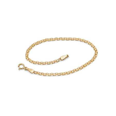 "10k Yellow Gold Bismark-Link Bracelet 7.25"""