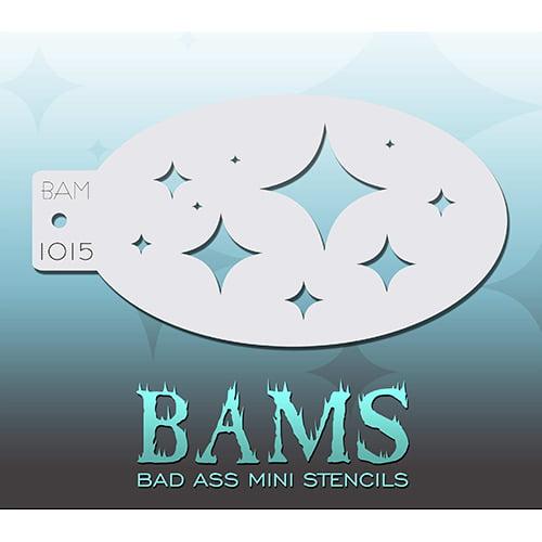 Bad Ass Diamond Stars Mini Stencil BAM1015