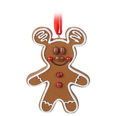 Disney Parks Mickey Mouse Gingerbread Cookie Christmas Ornament New With Tag ()