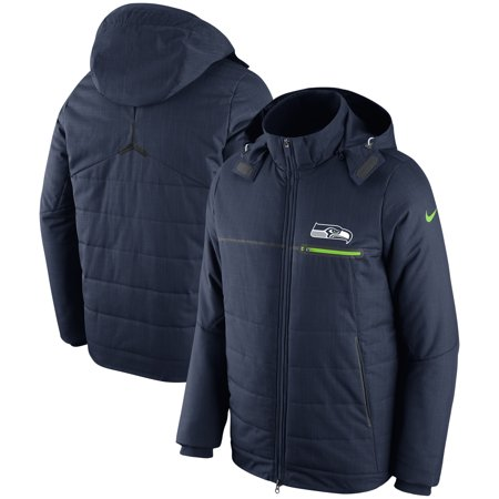Seattle Seahawks Nike Sideline Champ Drive Full-Zip Jacket - College Navy Nike Hockey Jacket