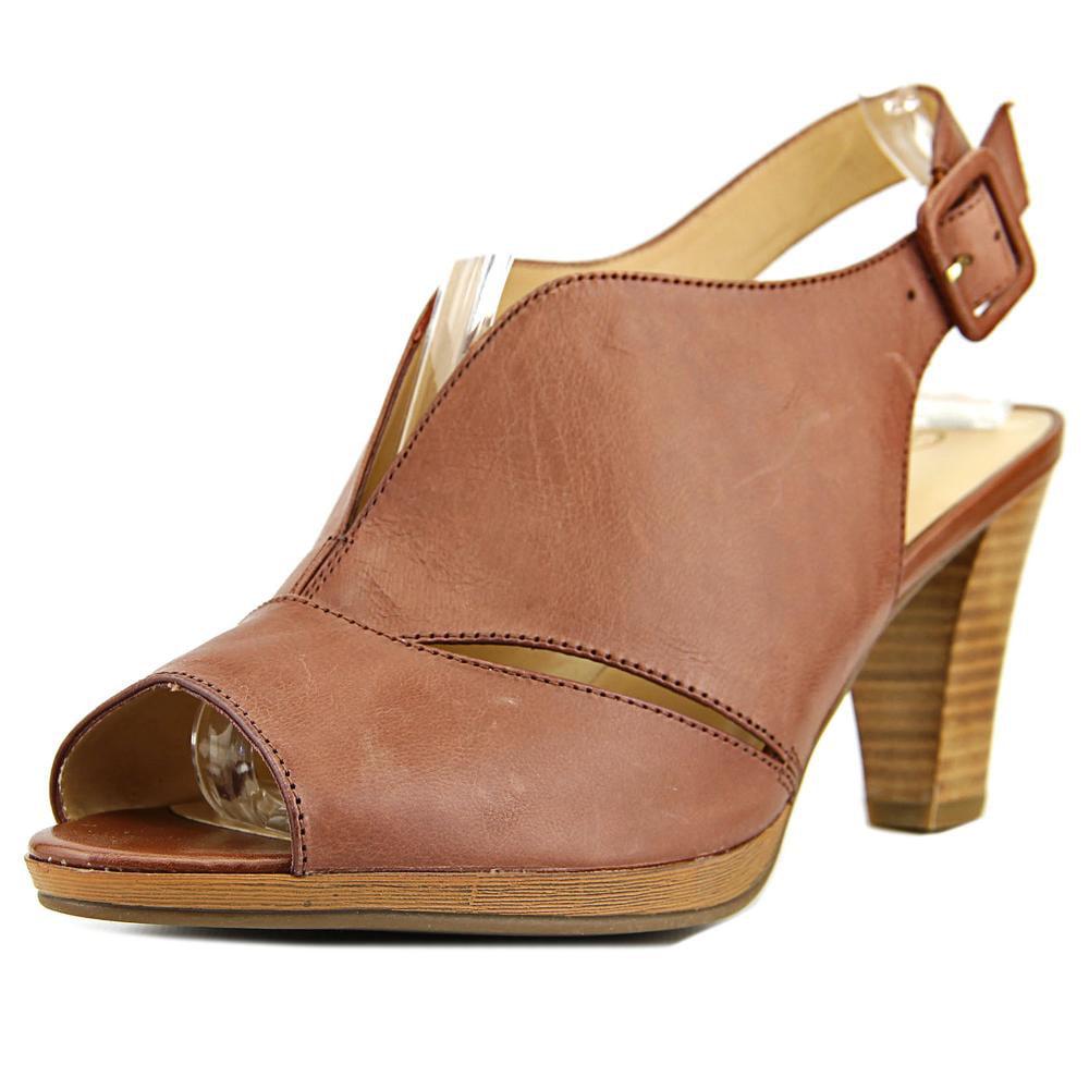 Bella Vita Leona Women N S Open-Toe Leather Brown Slingback Sandal by Bella Vita