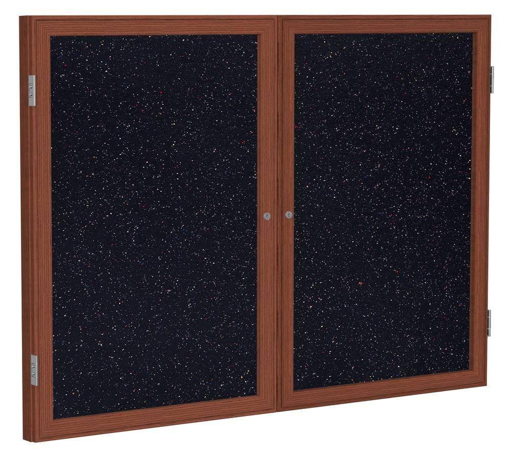 Eco-Friendly 2-Door Tackboard in Confetti (48 in. W x 36 in. H)