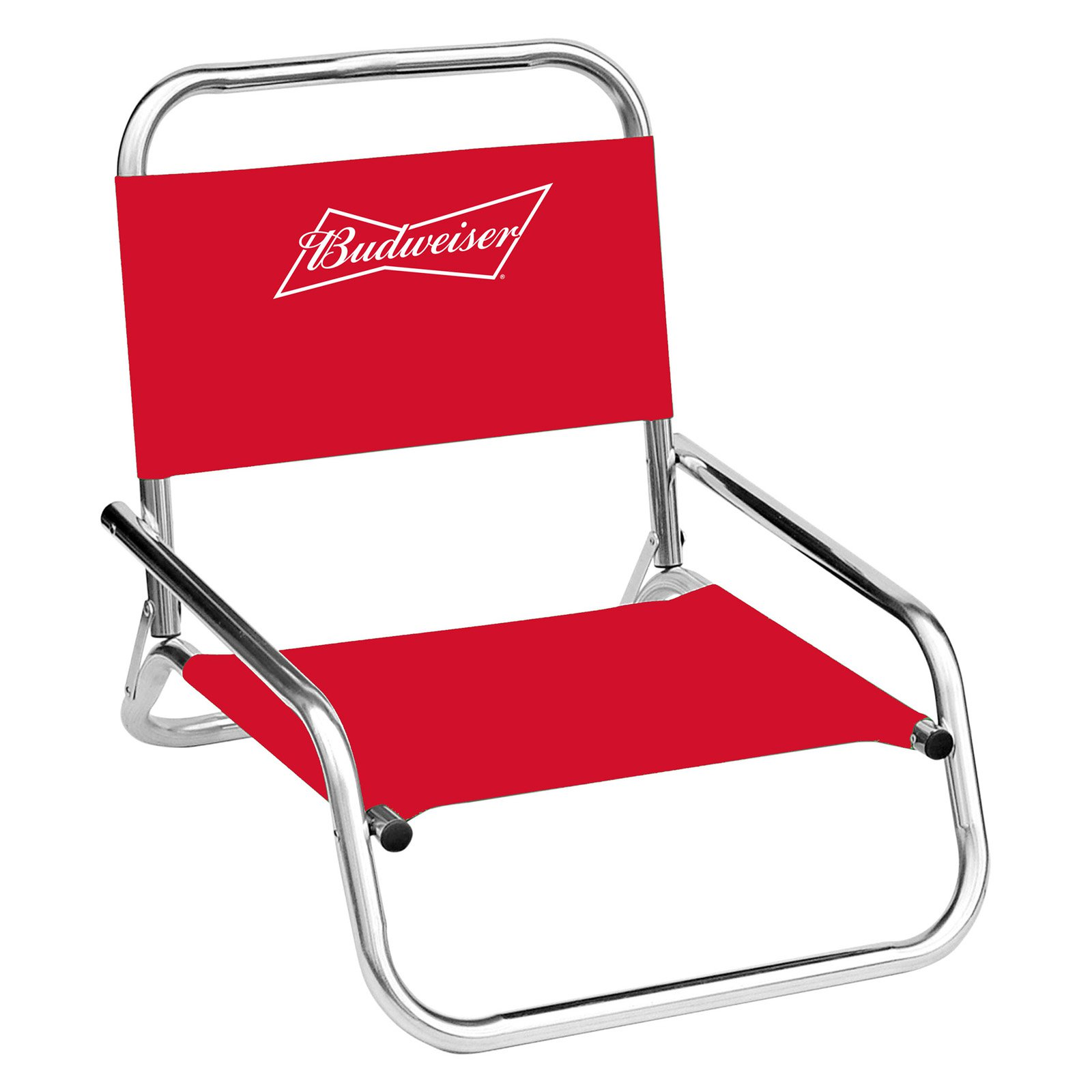 Budweiser one position folding beach chair