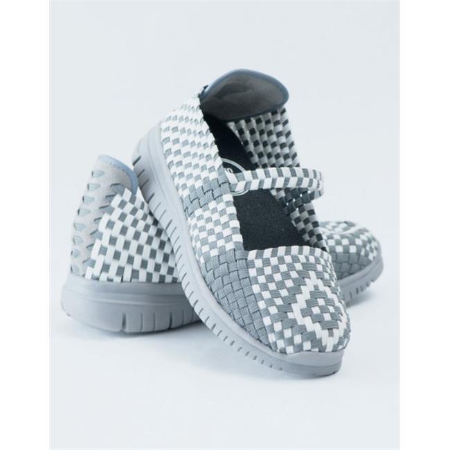 Heal USA Cali Shoe, White & Dark Gray - Comfort Size 10