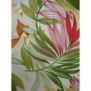Antigua Ottoman in Royal Oak-Fabric:Palms