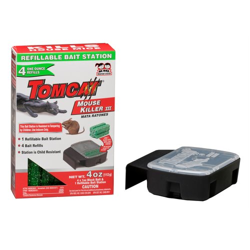 Tomcat Mouse Killer II Refillable Bait Station, 1ct