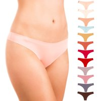 Alyce Intimates Women's Laser Cut Thong, 12 Pack, Assorted Colors