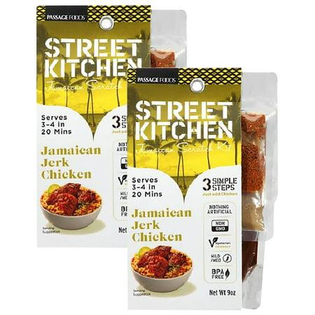 (2 Pack) Street Kitchen Jamaican Jerk Chicken Jamaican Scratch Kit, 9