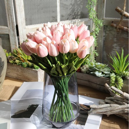 Artificial Fake Flowers Tulip Bouquet Floral Wedding Bouquet Party Home Decor PK