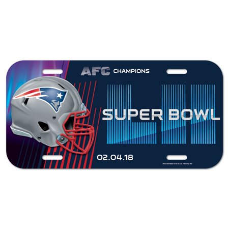 New England Patriots WinCraft 2017 AFC Champions Plastic License Plate - No Size - New England Patriots Plates