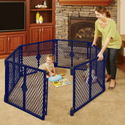 North States Superyard Classic 6-Panel Play Yard, Portable Indoor-Outdoor