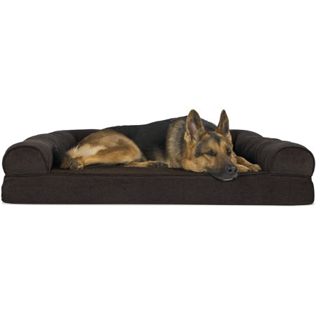 Cover 4 Dog Bed (FurHaven Pet Dog Bed | Orthopedic Faux Fleece & Chenille Sofa-Style Couch Pet Bed for Dogs & Cats, Coffee, Jumbo )