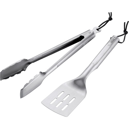 Weber Basics Portable 2-Piece Stainless Steel Tool Set