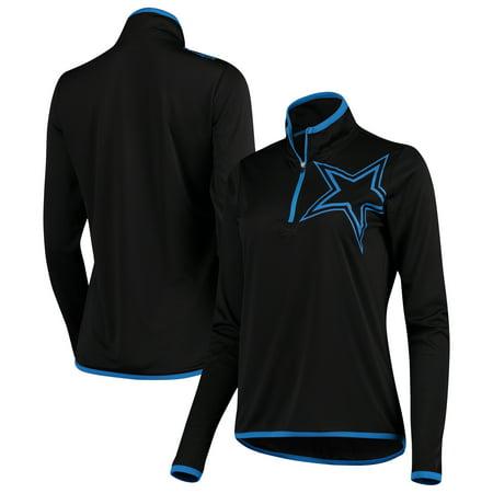 Dallas Cowboys Women's Lakota Quarter-Zip Pullover Jacket - Black (Diy Cowboy Vest)