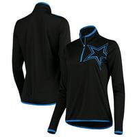 Product Image Dallas Cowboys Women s Lakota Quarter-Zip Pullover Jacket -  Black 82acd18bc