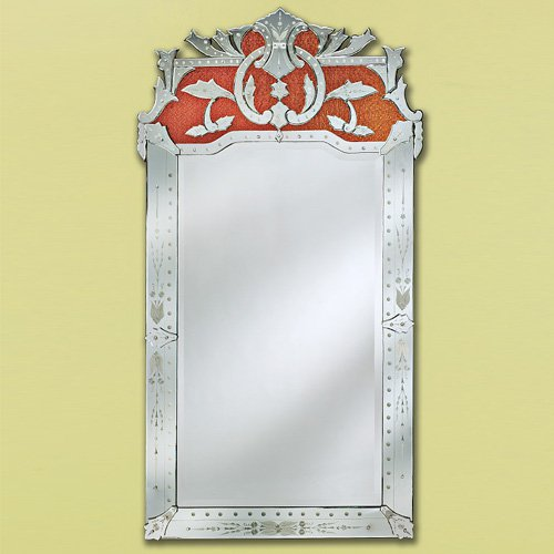Maxime Venetian Arch Wall Mirror-Gold - 41W x 76H in.