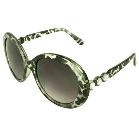 Urban Oval Fashion Sunglasses Black Leopard Frame Purple Black (Urban Leopard)