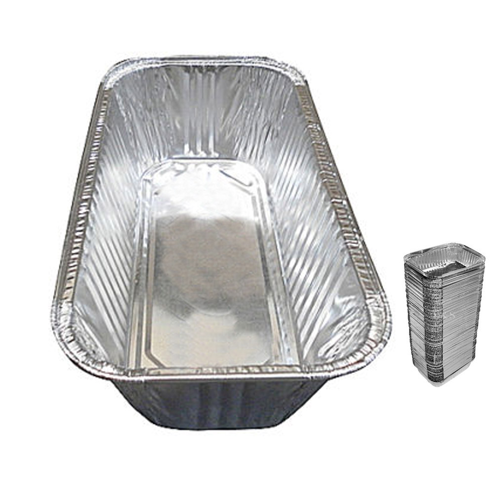 10 Pack 3 Lb Aluminum Foil Loaf Pan Disposable Bread Container Baking Tins New !