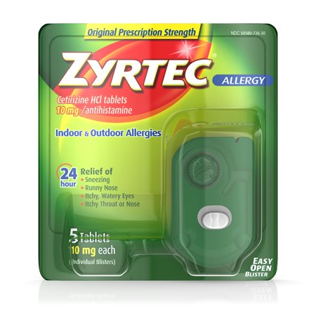 Zyrtec 24 Hour Allergy Tablets with Cetirizine HCl, 5