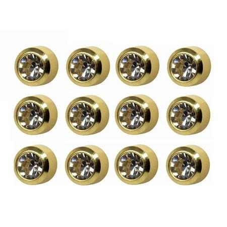 - Caflon Ear Piercing Bezel Earrings Studs 4mm April C/Z Gold Plated 12 Pair, Caflon Ear Piercing Bezel Earrings Studs 4mm April Diamond Gold Plated Surgical.., By Paaz Jewelry Supply